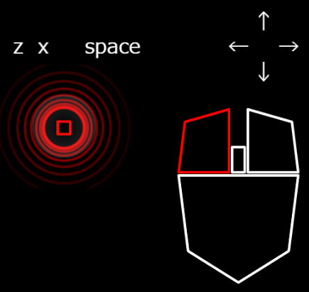 phina.js プログラミング クリック タッチ 矢印 キー z x space