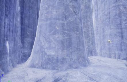 UnrealEngine4 マテリアル作成 ランドスケープ  スクリーンショット WorldAlignedTexture 岩 鍾乳洞