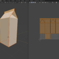 Blender シーム Seam 3DCG モデリング 牛乳パック