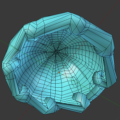Blender 3DCG モデリング メンダコ スライム 右斜め下から スクリーンショット