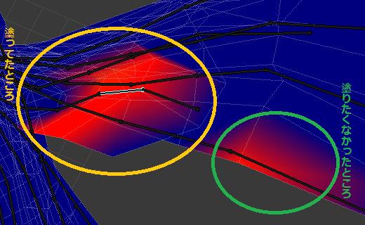 Blender 3DCG モデリング スキニング ウェイトペイントモード ワイヤーフレーム表示 ボーン アーマチュア リグ ペアレント メッシュオブジェクト 塗り間違い 失敗例