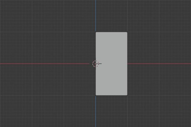 Blender 3DCG モデリング 平面メッシュ