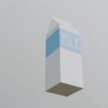 Blender モデリング 牛乳パック 3DCG パッケージ シーム付け テクスチャマッピング
