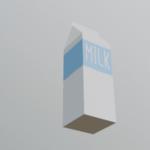 [Blender 2.8] 牛乳パックメイキング [モデリング初心者向け]
