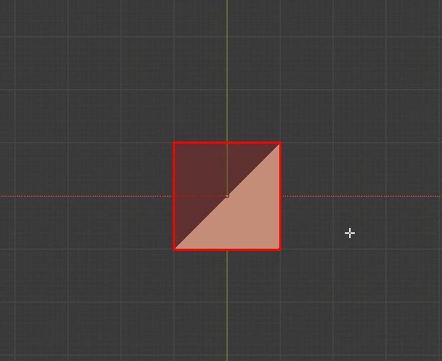 Blender ピボットポイント 三角形 3DCG モデリング バウンディングボックス