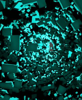 [Blender 2.8] 時間経過で表示が変化するアニメーションを簡単作成[ビルドモディファイアー]