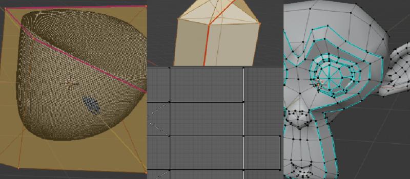Blender クリース シーム シャープ 辺 3DCG モデリング