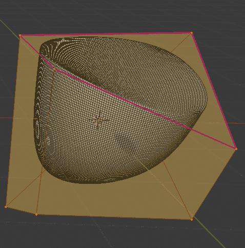 Blender クリース 辺 3DCG モデリング