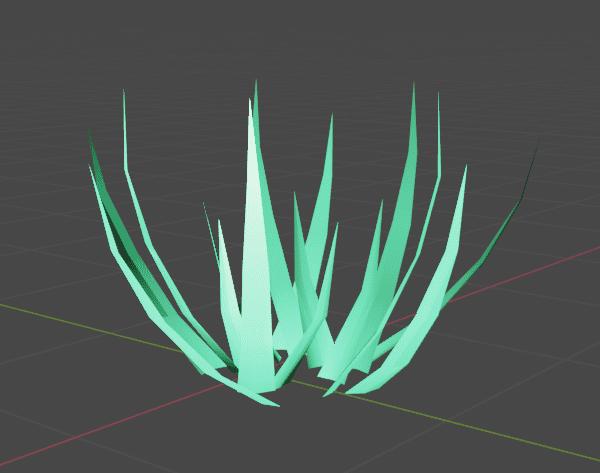 Blender データ転送 モディファイアー 3DCG モデリング 草 grass カスタム法線