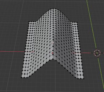 Blender プロポーショナル編集 モード 2D投影