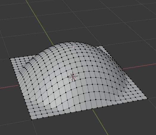 Blender プロポーショナル編集 モード 逆二乗式