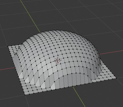 Blender プロポーショナル編集 モード 球状