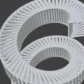 Blender ワイヤーフレーム スクリュー モディファイアー 3DCG モデリング 螺旋階段