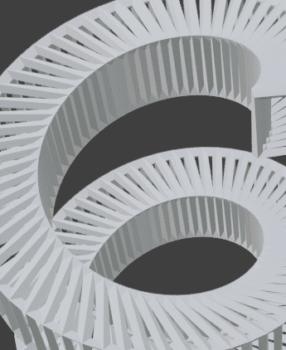[Blender 2.8] 板ポリゴンから螺旋や回転体作成[スクリューモディファイアー]