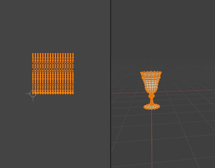 Blender スクリュー モディファイアー 3DCG モデリング グラス glass uvマップ