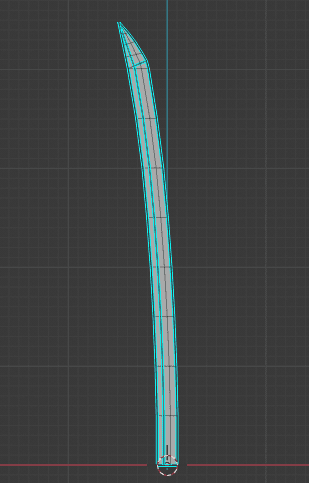 Blender ソリッド化 モディファイアー 厚み付け 刀 編集モード edit