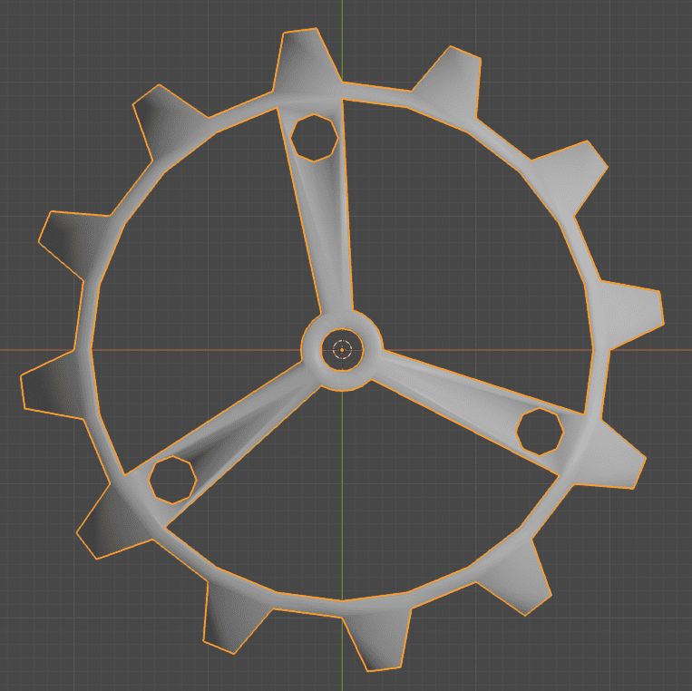 Blender 三角面化 ブーリアン モディファイアー 3DCG モデリング 歯車