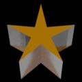 Blender ソリッド化 モディファイアー 厚み付け 星 クリスマス マテリアルインデックスオフセット