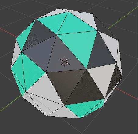 Blender ベベル モディファイアー 3DCG モデリング ico球 マテリアル