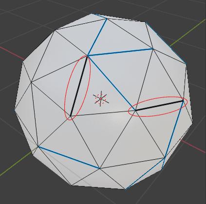 Blender ベベル モディファイアー ベベルウェイト 辺メニュー 3DCG モデリング ico球