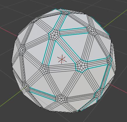Blender ベベル モディファイアー 3DCG モデリング ico球 シャープ