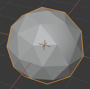 Blender シェーディング フラット スムーズ 3DCG モデリング ico球 面