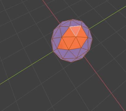 Blender 面の向き 法線 ノーマル Normals 3DCG モデリング ico球