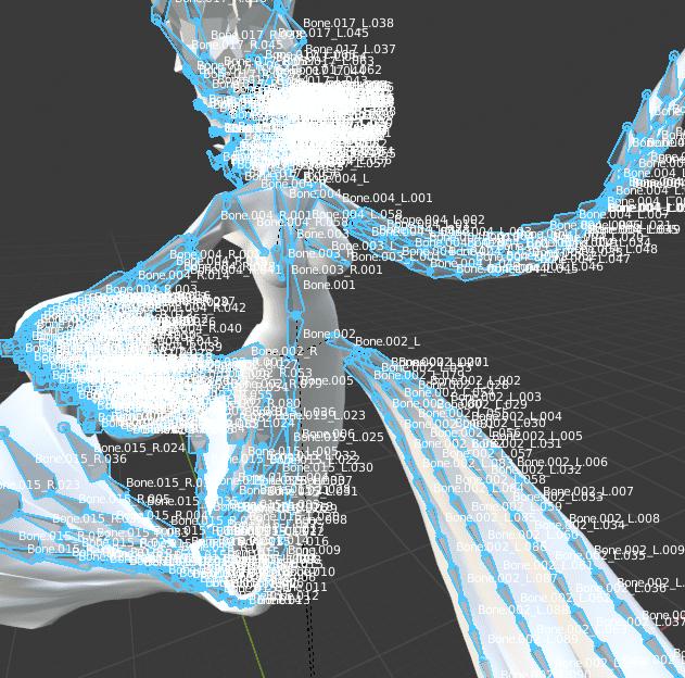 Blender アーマチュア ボーン 頂点グループ 3DCG モデリング モデル 人魚 マーメイド
