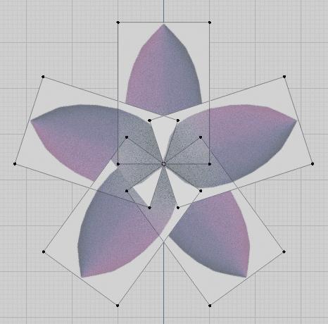 Blender 花びら 花 ポリゴン 3DCG モデリング