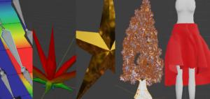 Blender 頂点グループ ウェイトペイント ボーン アーマチュア シェイプキー ソリッド化 モディファイアー パーティクル クロス 物理演算 3DCG モデリング