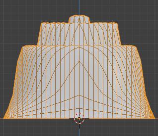 Blender 頂点ウェイト編集 モディファイアー 3DCG モデリング 減衰 カスタムカーブ