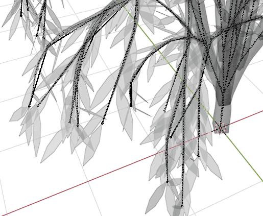 Blender アドオン カーブ Add-on Sapling_Tree_Gen 3DCG モデリング 木 葉