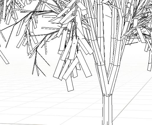 Blender アドオン カーブ Add-on Sapling_Tree_Gen 3DCG モデリング 木 葉っぱ 四角形