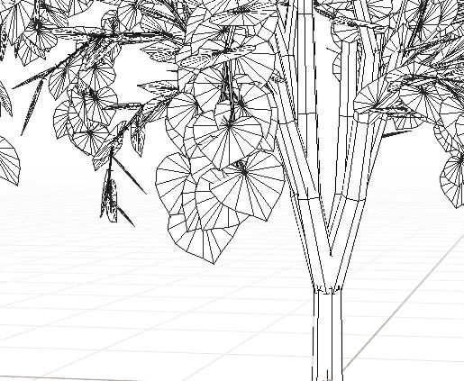 Blender アドオン カーブ Add-on Sapling_Tree_Gen 3DCG モデリング 木 DupliFaces 桂 葉っぱ