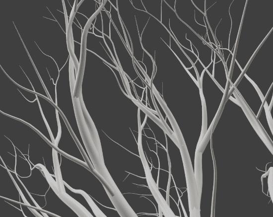 Blender アドオン カーブ Add-on Sapling_Tree_Gen 3DCG モデリング 木