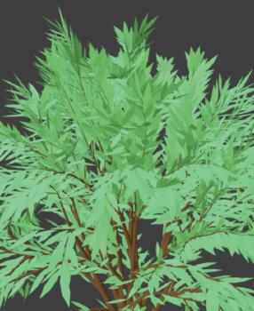 [Blender 2.8] 木のモデルをお手軽作成 [Sapling Tree Gen]