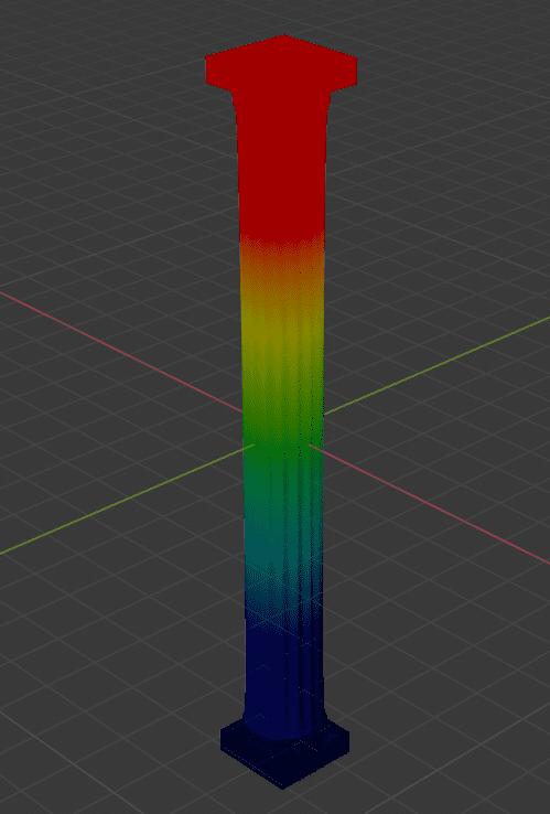 Blender 3DCG モデリング 柱 頂点グループ ウェイトペイント
