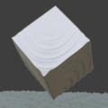 Blender 波 頂点ウェイト近傍 モディファイアー 3DCG モデリング 立方体 平面