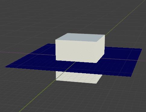 Blender 頂点ウェイト近傍 モディファイアー 頂点グループ 3DCG モデリング 平面 立方体