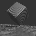 Blender 波 頂点ウェイト近傍 モディファイアー 3DCG モデリング 立方体 平面 アニメーション
