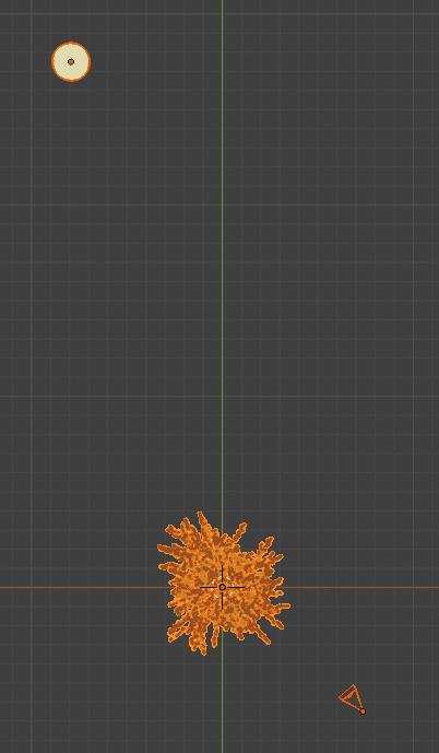 Blender アドオン カーブ Add-on Sapling_Tree_Gen 3DCG モデリング 桜 花 月 カメラ
