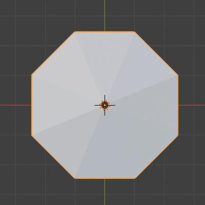 Blender メッシュオブジェクト 円 3DCG モデリング