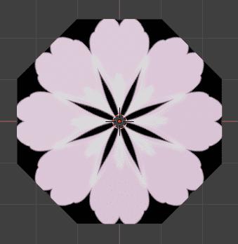 Blender 花びら 桜 マテリアル 3DCG モデリング 配列モディファイアー