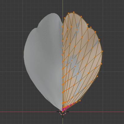 Blender 花びら 桜 メッシュ 平面 3DCG モデリング