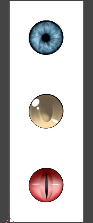 Blender UVワープ モディファイアー モデリング 3DCG テクスチャ 瞳 碧眼 黄色の瞳 赤色の瞳