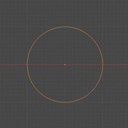 Blender エンプティ オブジェクト 円 3DCG モデリング