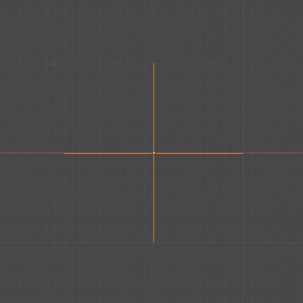 Blender エンプティ オブジェクト 十字 3DCG モデリング