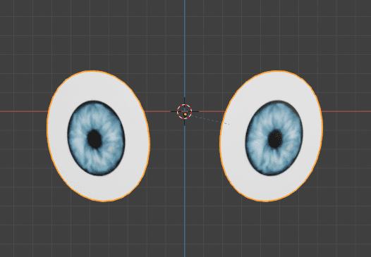 Blender UVワープ ミラー モディファイアー オブジェクト 目 3DCG モデリング UV テクスチャ マッピング 瞳