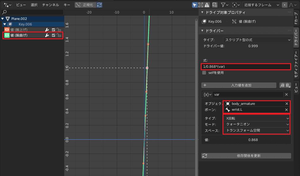 Blender ドライバーエディター 3DCG モデリング シェイプキー アーマチュア ボーン