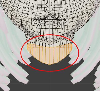 Blender シェイプキー 3DCG モデリング 首 表情モーフ メッシュ崩壊
